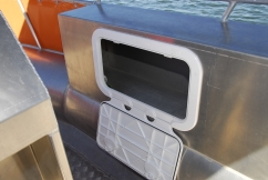 Hatches and compartments within the box like gunwale sides are left to the buyer to option