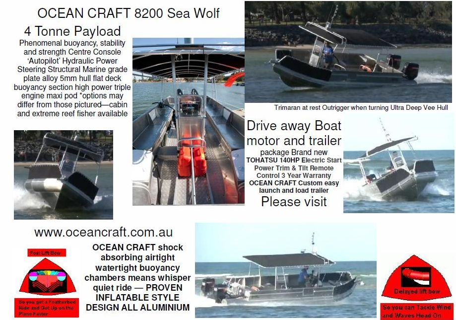 OCEAN CRAFT 8200 Sea Wolf 8.2 Metre Reef Fisher Water Taxi Dive Charter Boat