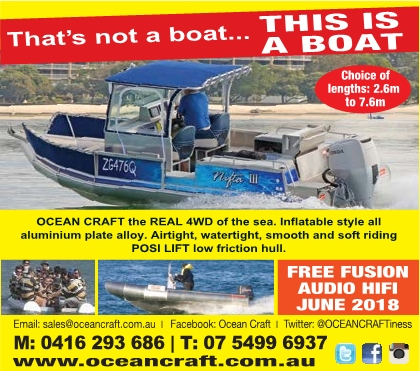 Latest OCEAN CRAFT Advertisment BUSH AND BEACH Magazine ad May 2018