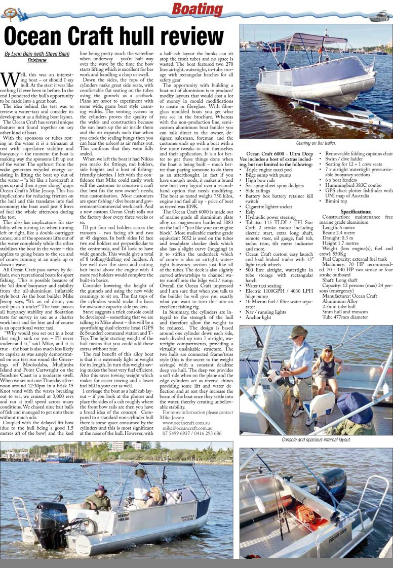 P44 ocean craft fish and boat article